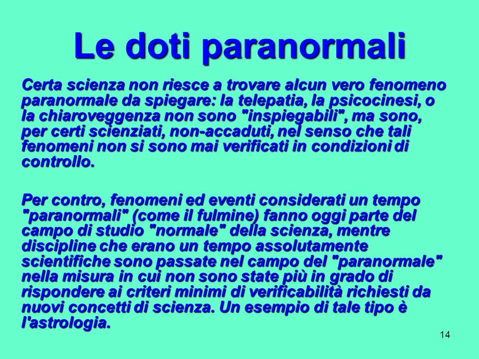 Le doti paranormali