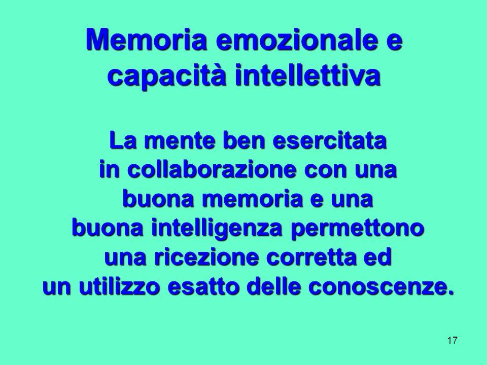 Memoria emozionale e capacità intellettiva