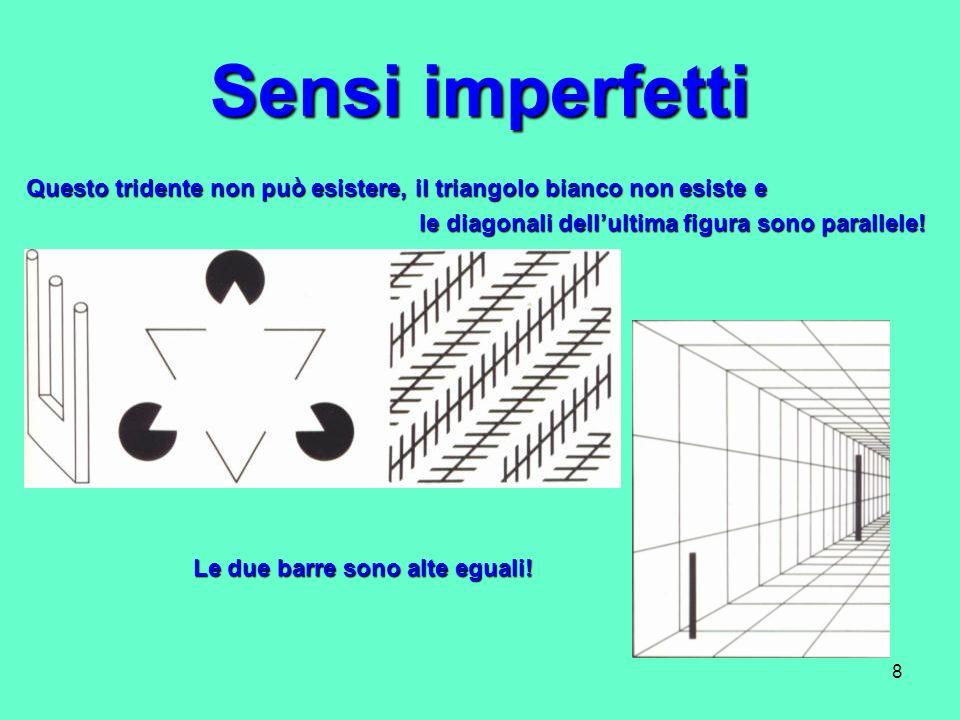 Sensi imperfetti Questo tridente non può esistere, il triangolo bianco non esiste e. le diagonali dell'ultima figura sono parallele!