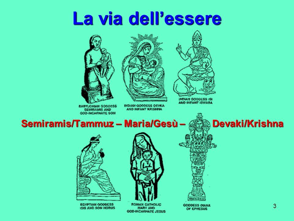 La via dell'essere Semiramis/Tammuz – Maria/Gesù – Devaki/Krishna