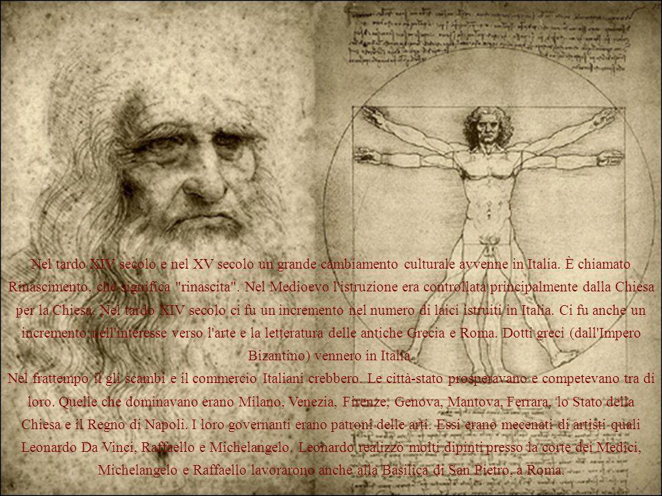 Nel tardo XIV secolo e nel XV secolo un grande cambiamento culturale avvenne in Italia.