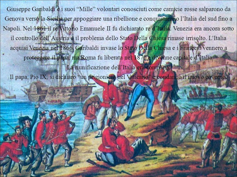 La riunificazione dell'Italia era completa.