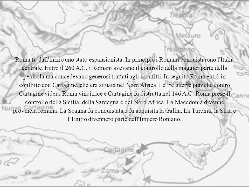 Roma fu dall inizio uno stato espansionista