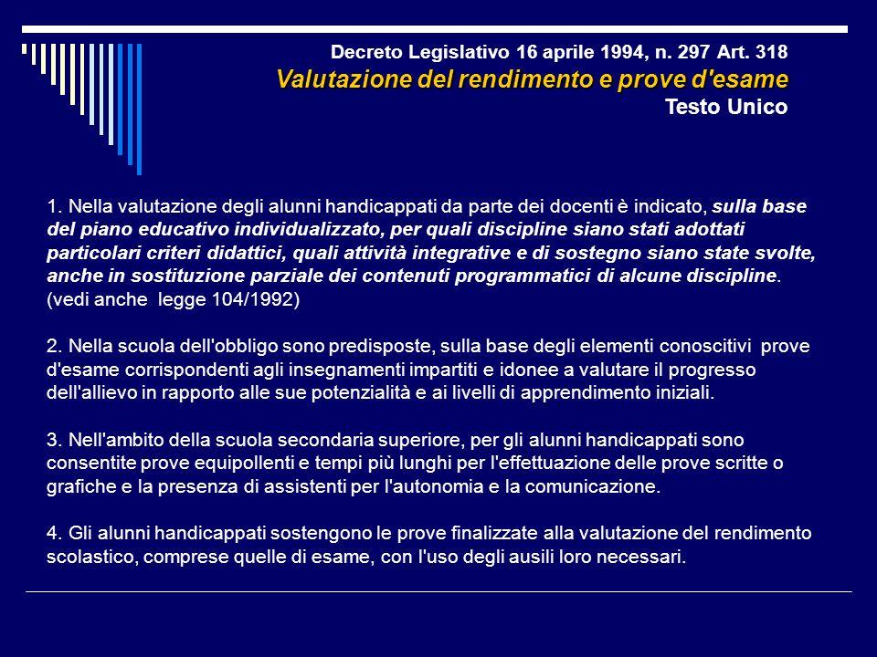 Decreto Legislativo 16 aprile 1994, n. 297 Art