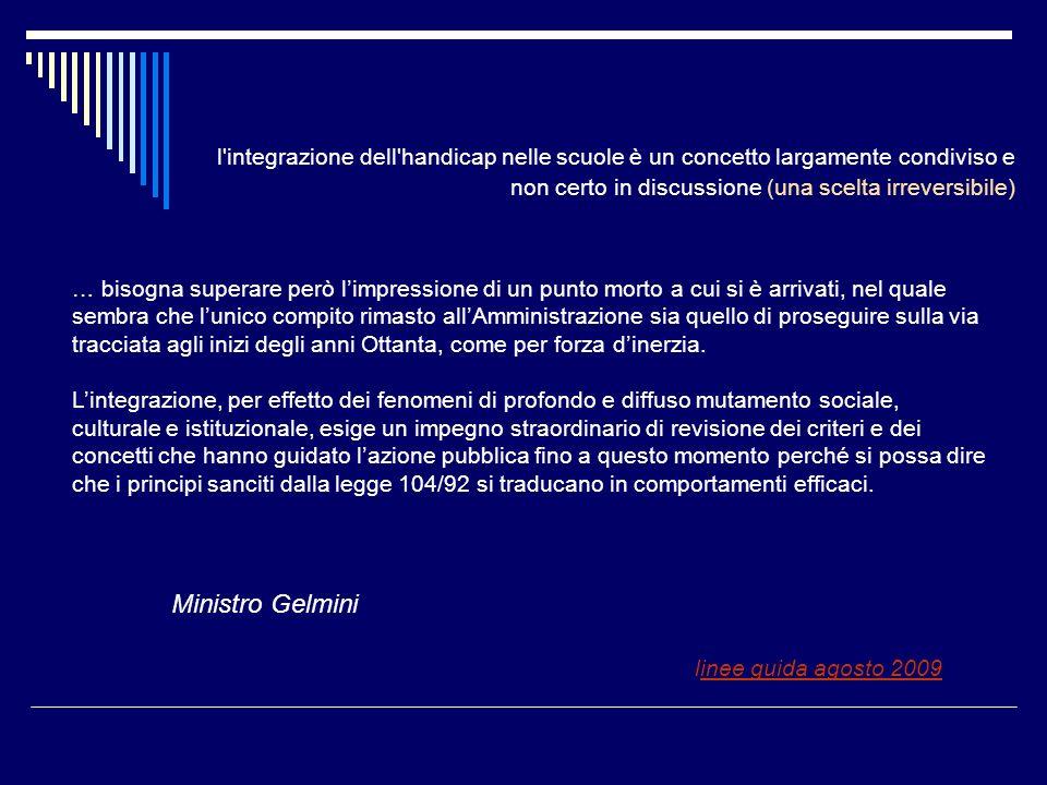 Ministro Gelmini linee guida agosto 2009