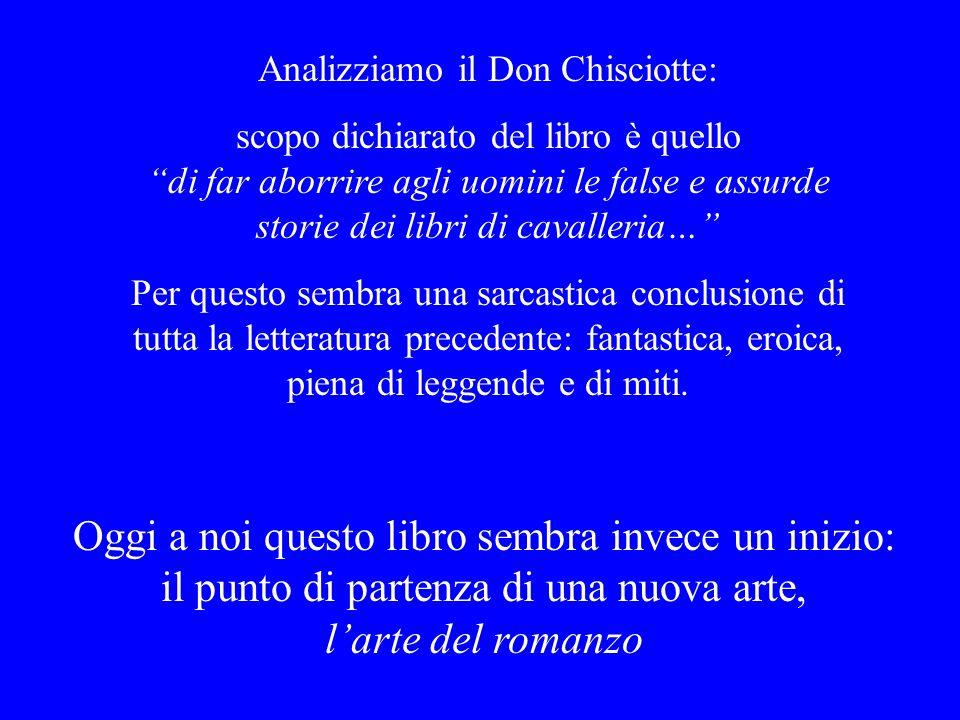 Analizziamo il Don Chisciotte: