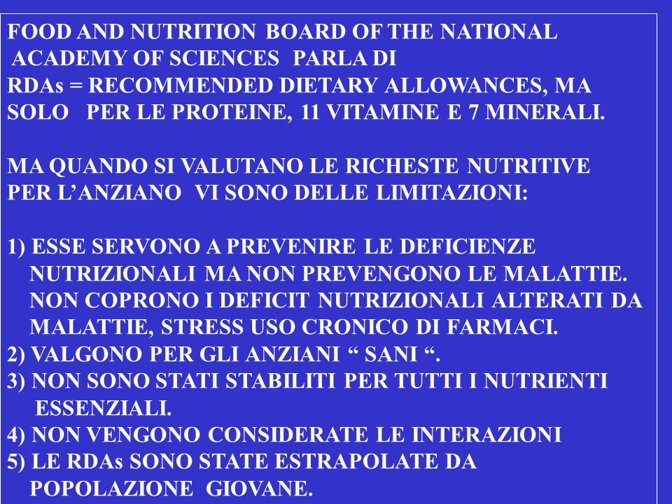 FOOD AND NUTRITION BOARD OF THE NATIONAL