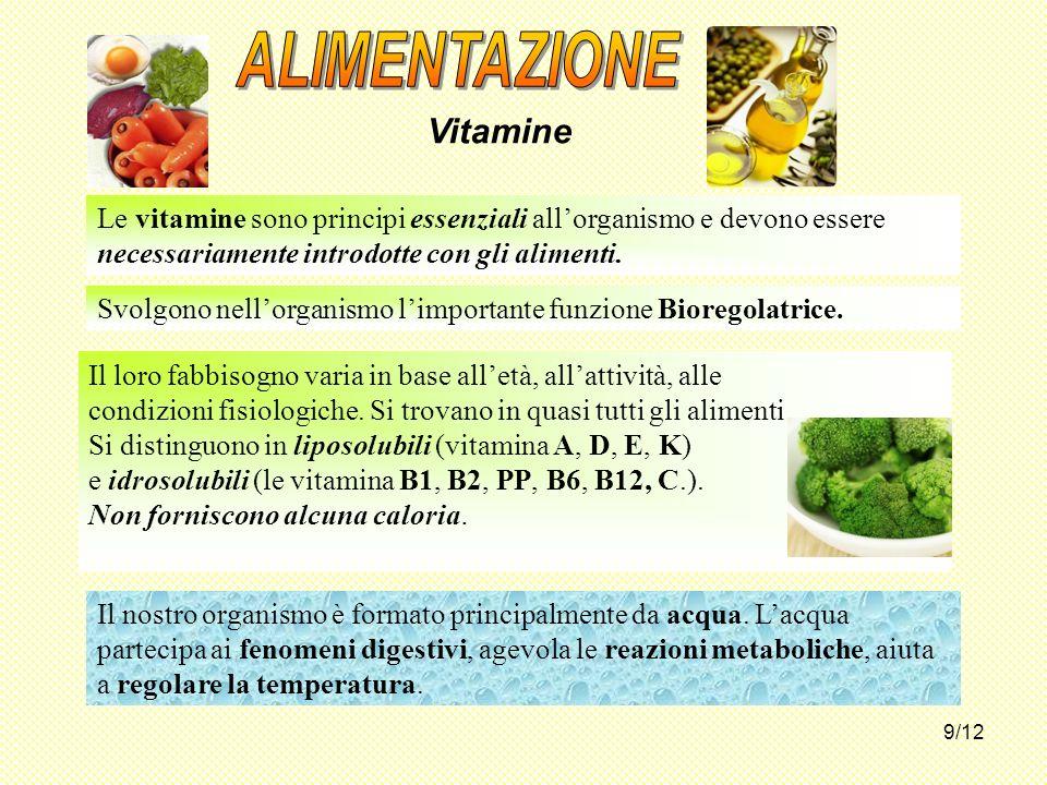 ALIMENTAZIONE Vitamine