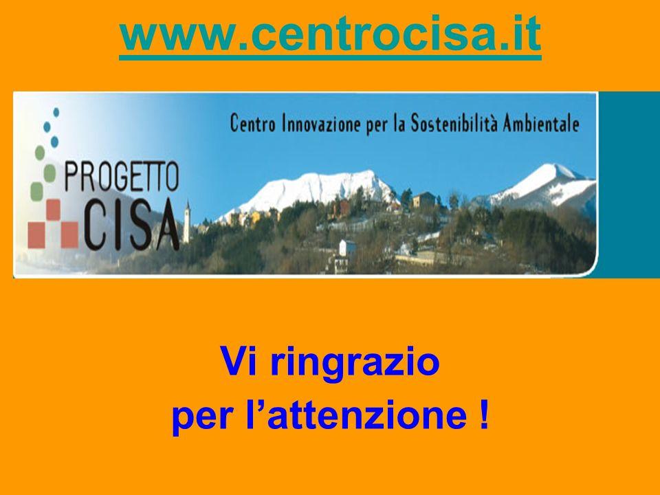www.centrocisa.it Vi ringrazio per l'attenzione !