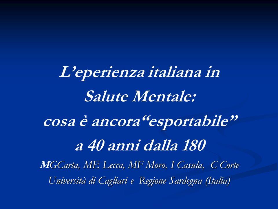L'eperienza italiana in cosa è ancora esportabile
