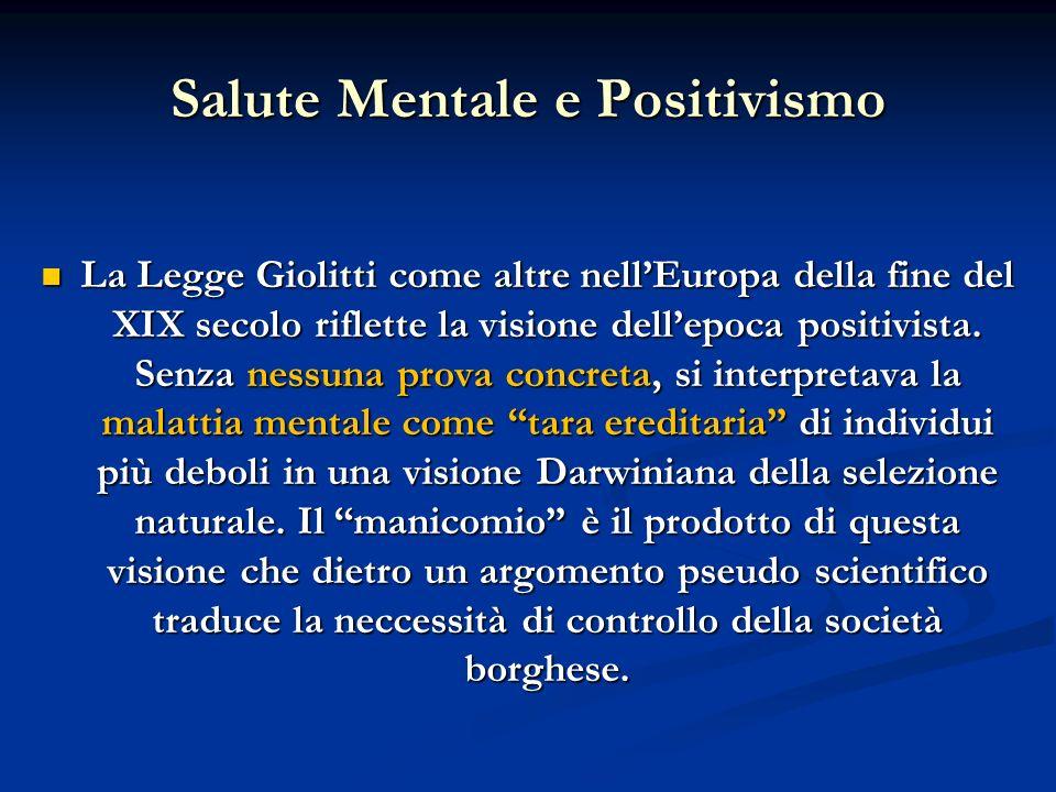 Salute Mentale e Positivismo