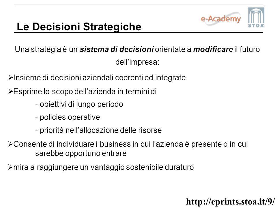 Le Decisioni Strategiche