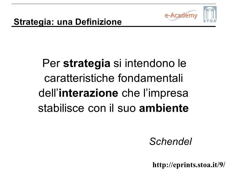 Schendel Strategia: una Definizione