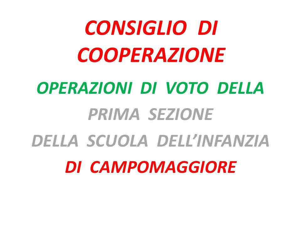 CONSIGLIO DI COOPERAZIONE