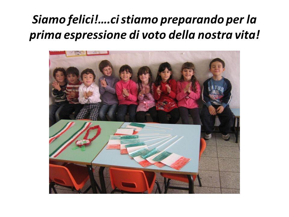 Siamo felici!….ci stiamo preparando per la prima espressione di voto della nostra vita!