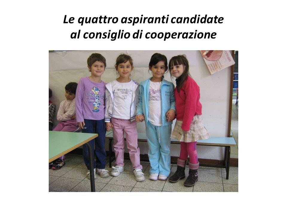 Le quattro aspiranti candidate al consiglio di cooperazione