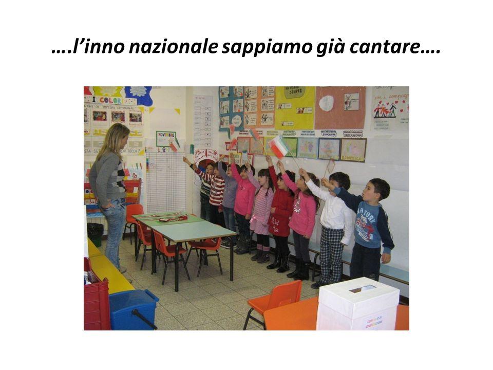 ….l'inno nazionale sappiamo già cantare….