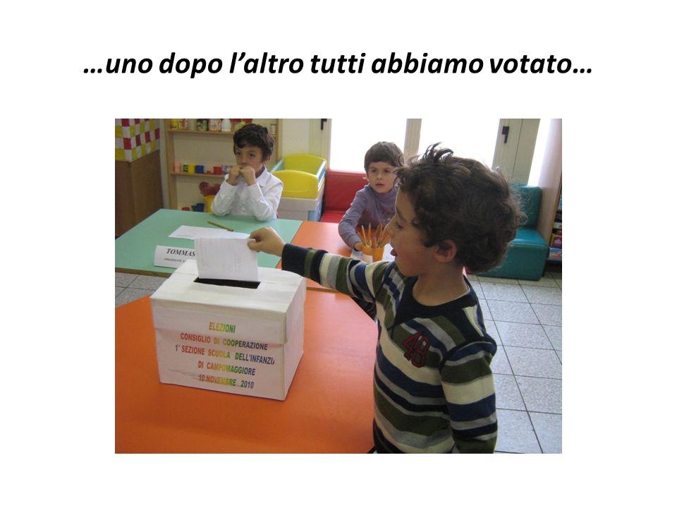 …uno dopo l'altro tutti abbiamo votato…