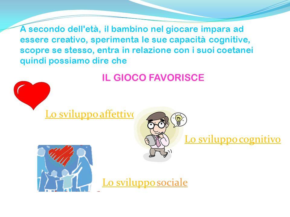 Lo sviluppo affettivo Lo sviluppo cognitivo Lo sviluppo sociale