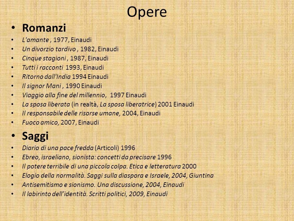 Opere Romanzi Saggi L amante , 1977, Einaudi