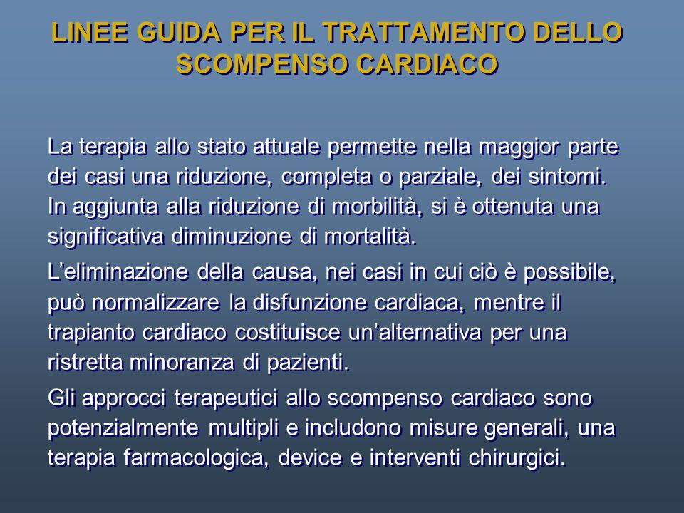 LINEE GUIDA PER IL TRATTAMENTO DELLO SCOMPENSO CARDIACO