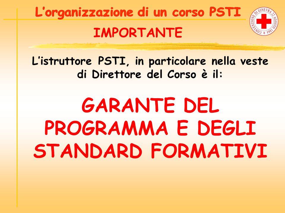 GARANTE DEL PROGRAMMA E DEGLI STANDARD FORMATIVI