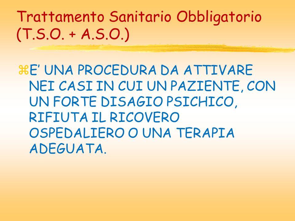 Trattamento Sanitario Obbligatorio (T.S.O. + A.S.O.)