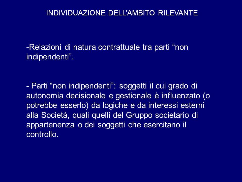 INDIVIDUAZIONE DELL'AMBITO RILEVANTE