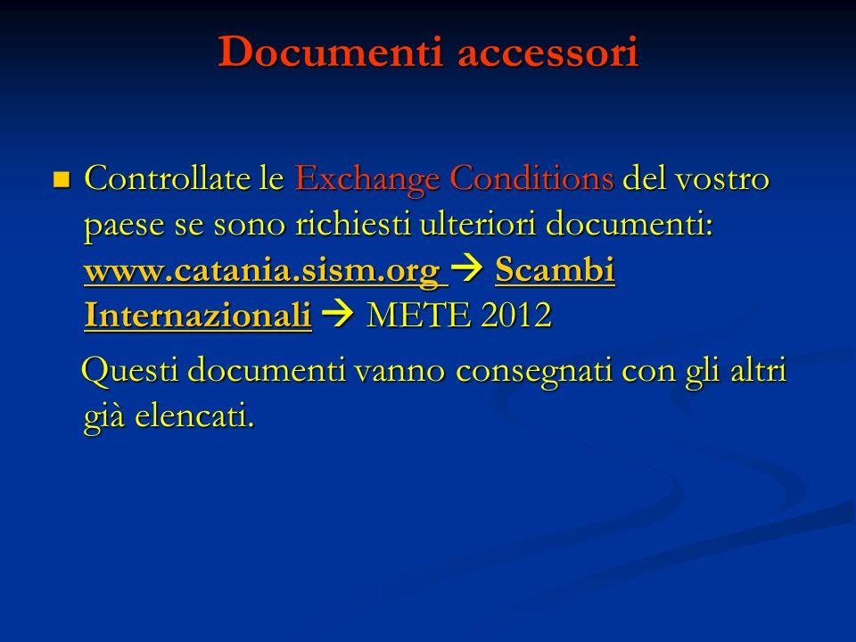 Documenti accessori