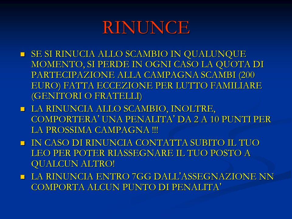 RINUNCE