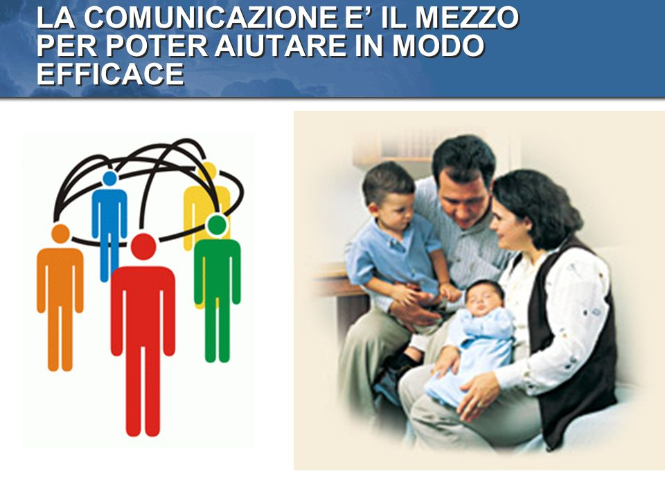 LA COMUNICAZIONE E' IL MEZZO PER POTER AIUTARE IN MODO EFFICACE