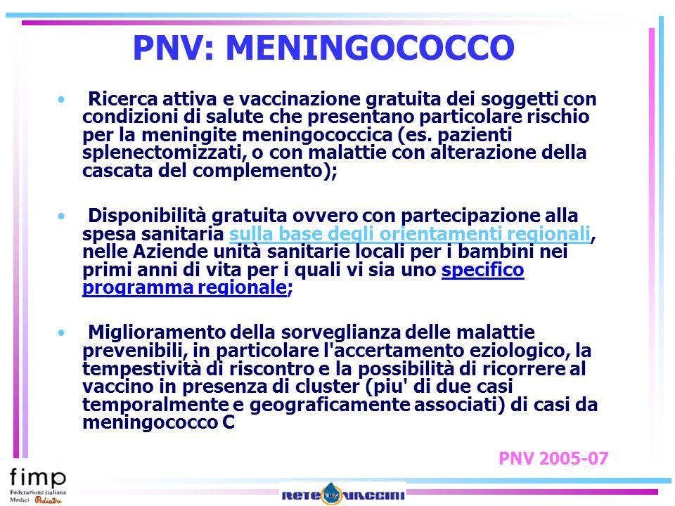 PNV: MENINGOCOCCO