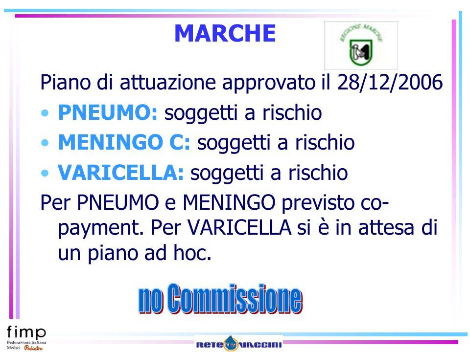 MARCHE no Commissione Piano di attuazione approvato il 28/12/2006