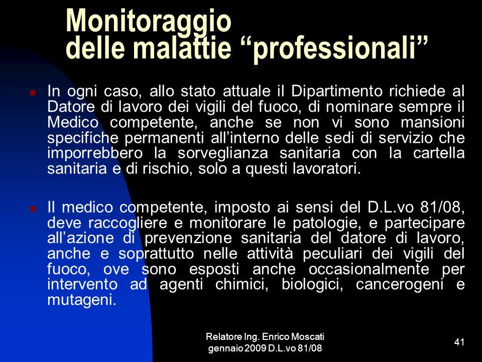 Monitoraggio delle malattie professionali