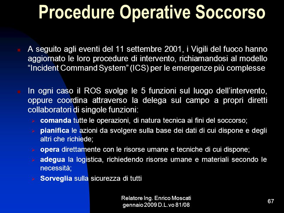 Procedure Operative Soccorso