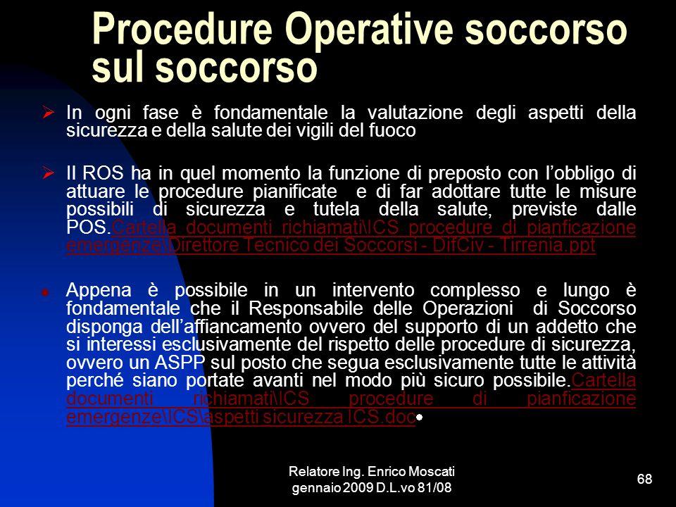 Procedure Operative soccorso sul soccorso