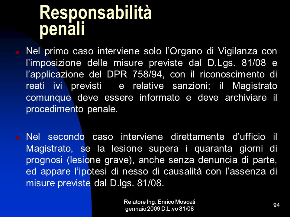 Responsabilità penali