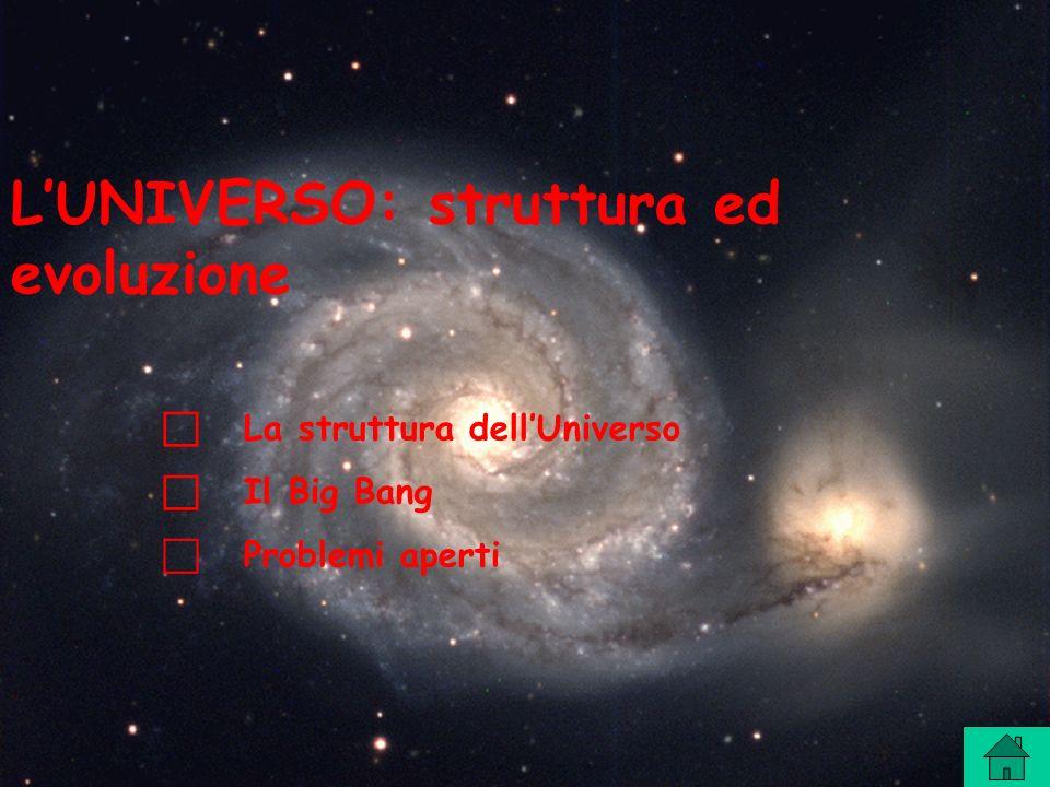 L'UNIVERSO: struttura ed evoluzione