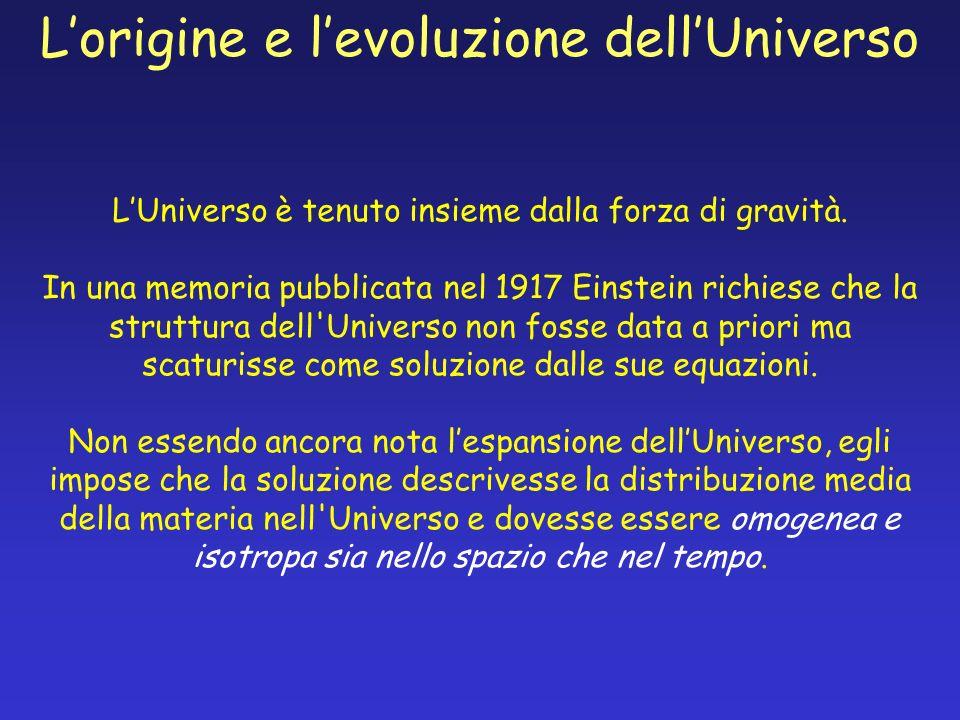 L'origine e l'evoluzione dell'Universo