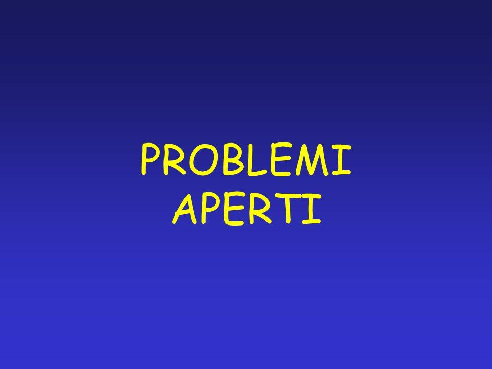 PROBLEMI APERTI