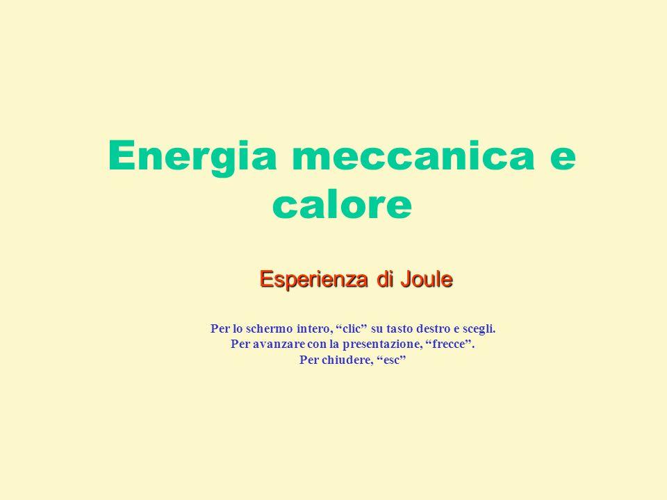 Energia meccanica e calore