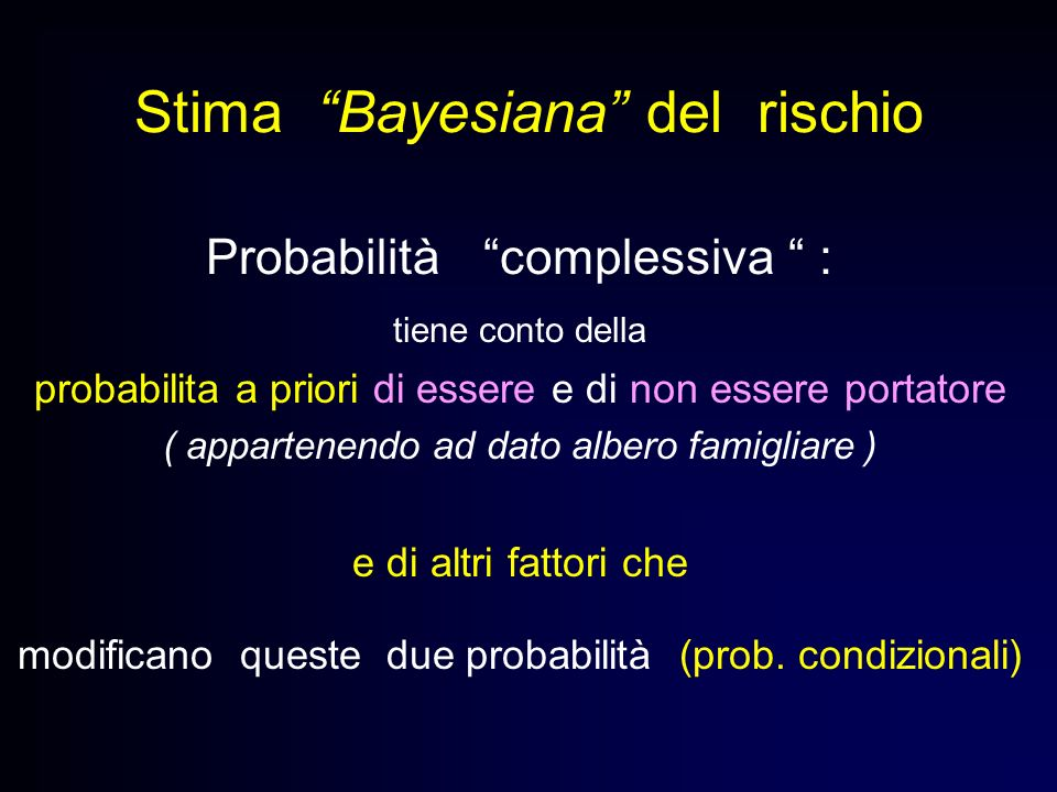 Stima Bayesiana del rischio