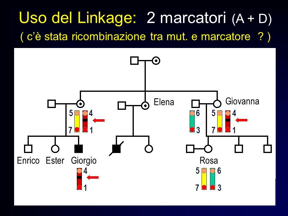 Uso del Linkage: 2 marcatori (A + D)