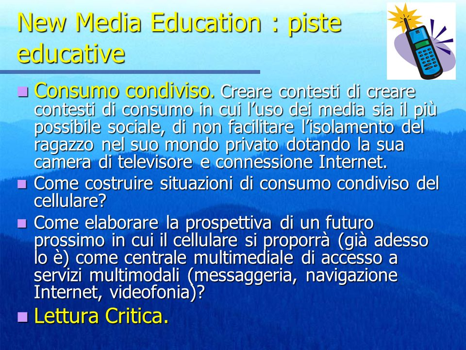 New Media Education : piste educative