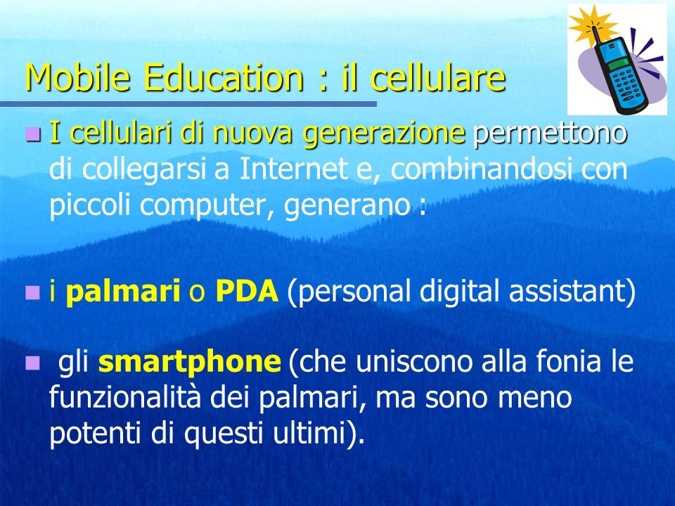 Mobile Education : il cellulare
