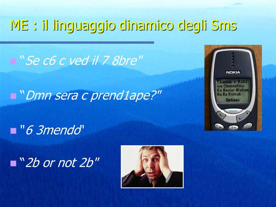 ME : il linguaggio dinamico degli Sms