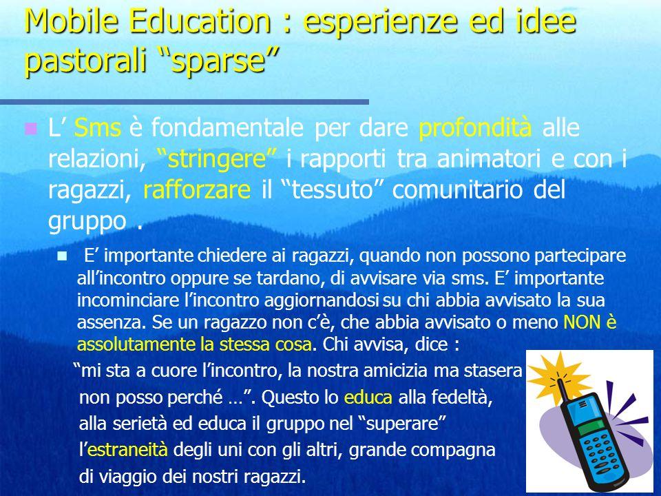 Mobile Education : esperienze ed idee pastorali sparse