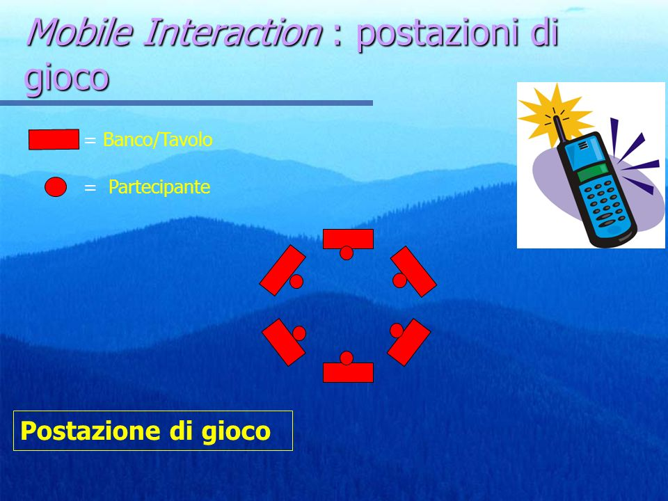 Mobile Interaction : postazioni di gioco