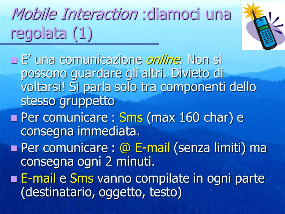Mobile Interaction :diamoci una regolata (1)