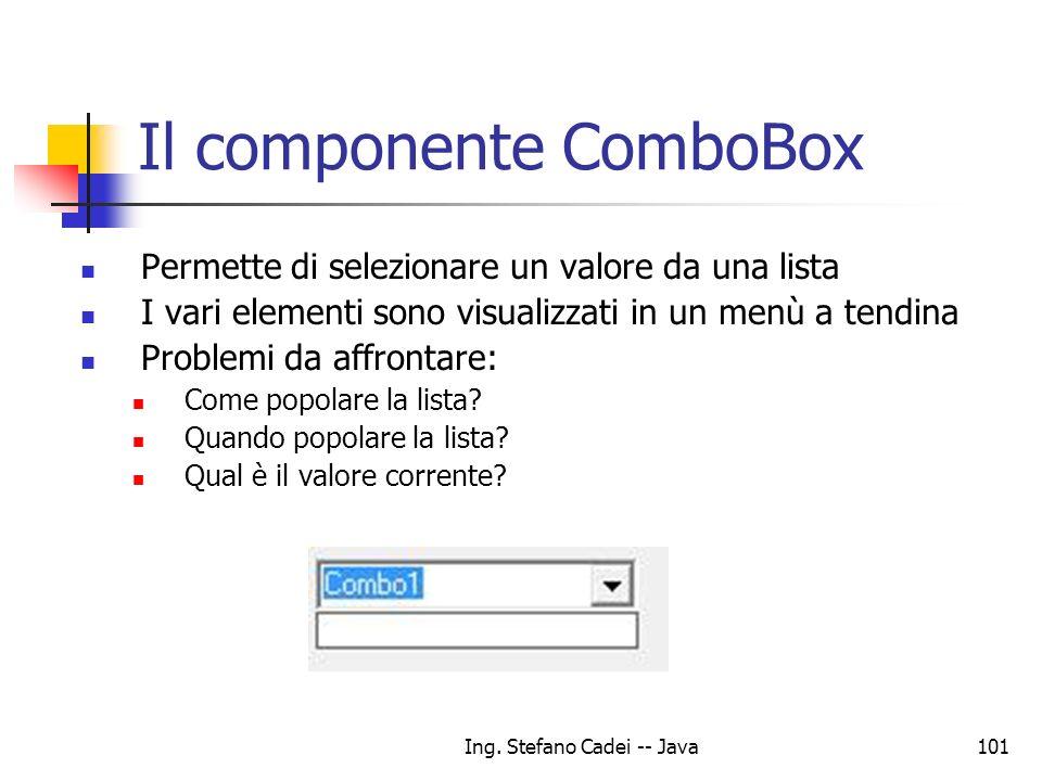 Il componente ComboBox